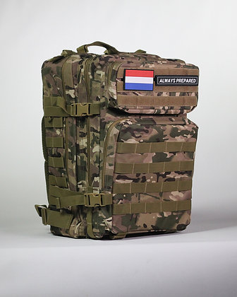 Multi Camo Warrior Backpack 45L
