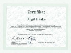 Infektionshygiene Zertifikat