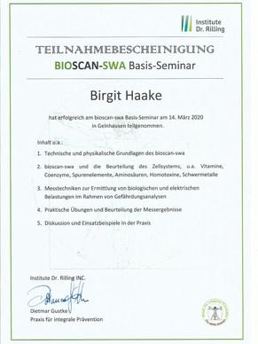BioScan Ausbildung