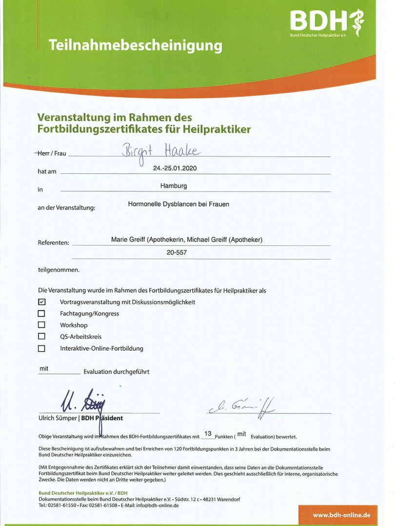 Hormonseminar Hamburg