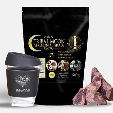 610g Cacao + 12oz Tribal Moon Cacao Keep Cup  - Limited Edition