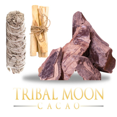 Ceremony Pack with Cacao, Sage & Palo Santo