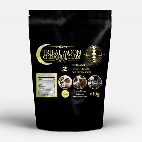 610g Tribal Moon Ceremonial Grade Chocolate Cacao