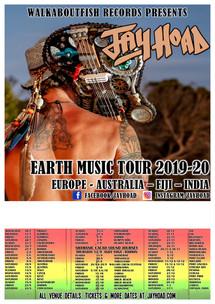 New Tour Poster Template Dates  White bo