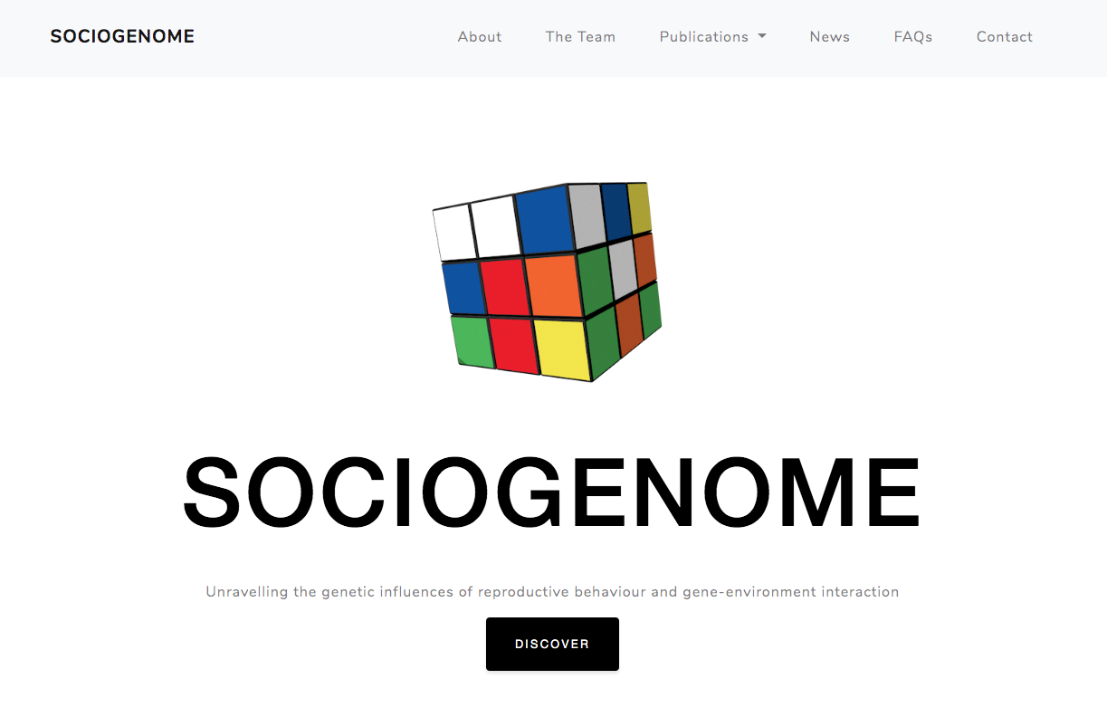 Website for Sociogenome Project