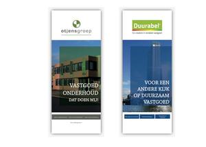 ontwerp roll-up banners Otjensgroep