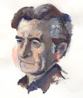 Portrait of Dragatakis by his granddaughter Ismini Koronidi.