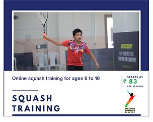 Sreenidhi Sports Academy - Squash Training