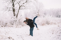 snow engagement photo, springfield il engagement photographer, springfield wedding photographer, spr