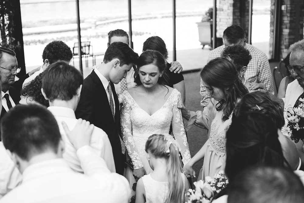 Springfield, Lincoln, IL, Illinois, Sherman, Chatham, Erin's Pavilion, Central Illinois, Wedding Day, Bloomington, Wedding, Photography, Photographer, Lifestyle, Affordable, Cheap, Peoria, Normal, Midwest, Christian, Wedding, Pray, Prayer, Bride and Groom, Bridal Party