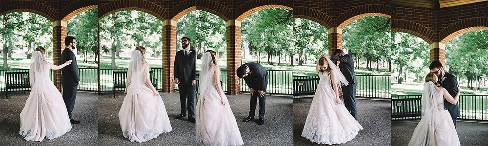 Wedding Photography | First Look | St. Charles | Bride | Missouri | MO | Lincoln | Soul Focus | Lindenwood University
