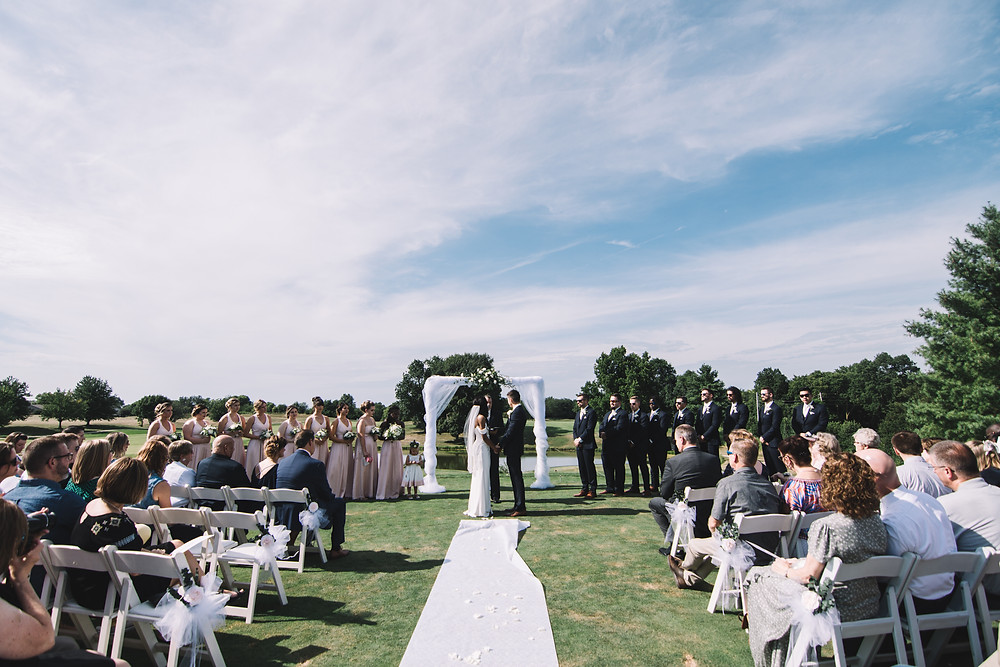 Springfield, IL, Illinois, Pipe Glen, Golf Club, Course, Wedding Venue, Outdoor Wedding, Central Illinois, Chatham, Ceremony, Seating