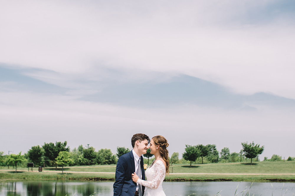 Springfield, Lincoln, IL, Illinois, Sherman, Chatham, Erin's Pavilion, Central Illinois, Wedding Day, Bloomington, Wedding, Photography, Photographer, Lifestyle, Affordable, Cheap, Peoria, Normal, Midwest, Bride and Groom, Kiss, Summer, June