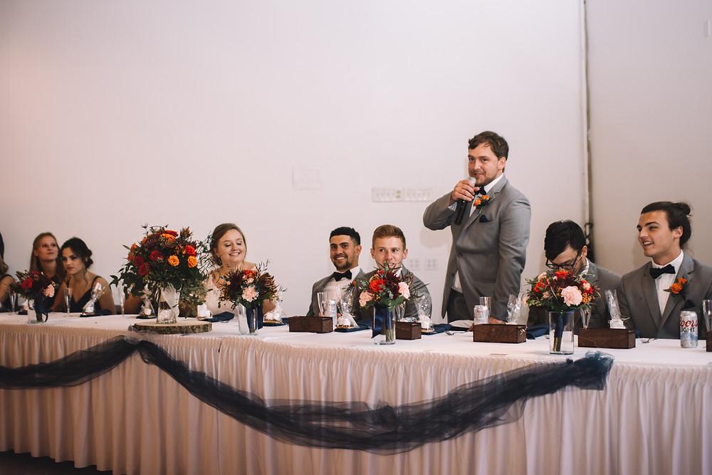 Lincoln Banquet Center, Lincoln, IL, Illinois, Wedding Venue, Central Illinois, Bar, Catering, Handicap Accessible, Best Man Speech