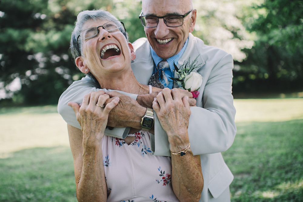 Wedding Photography | Laughing | Bride + Groom | Springfield | Bride | Illinois | IL | Lincoln | Soul Focus | Lake Springfield Christian Assembly