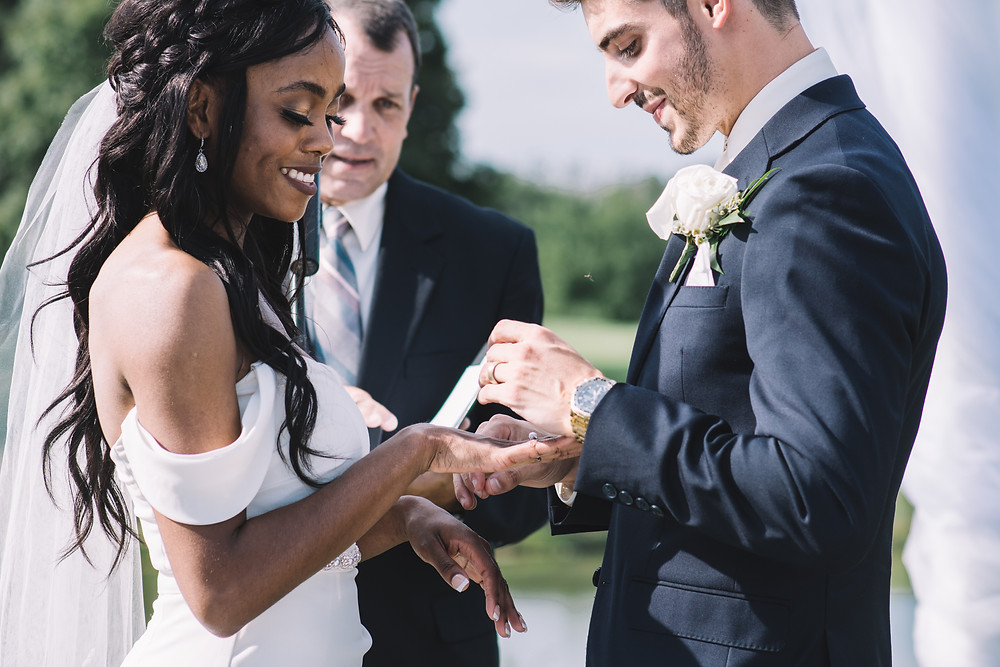 Wedding Photography | Bride and Groom | Ring | Ceremony | Springfield | Wedding Ring | Illinois | IL | Lincoln | Soul Focus | Piper Glen Golf Course