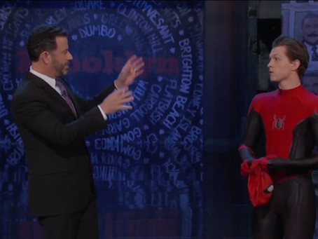 TOM HOLLAND TEASES NEW SPIDERMAN MOVIE ON JIMMY KIMMEL!