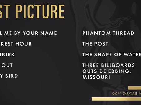 BEST PICTURE NOMINEES ARE IN!