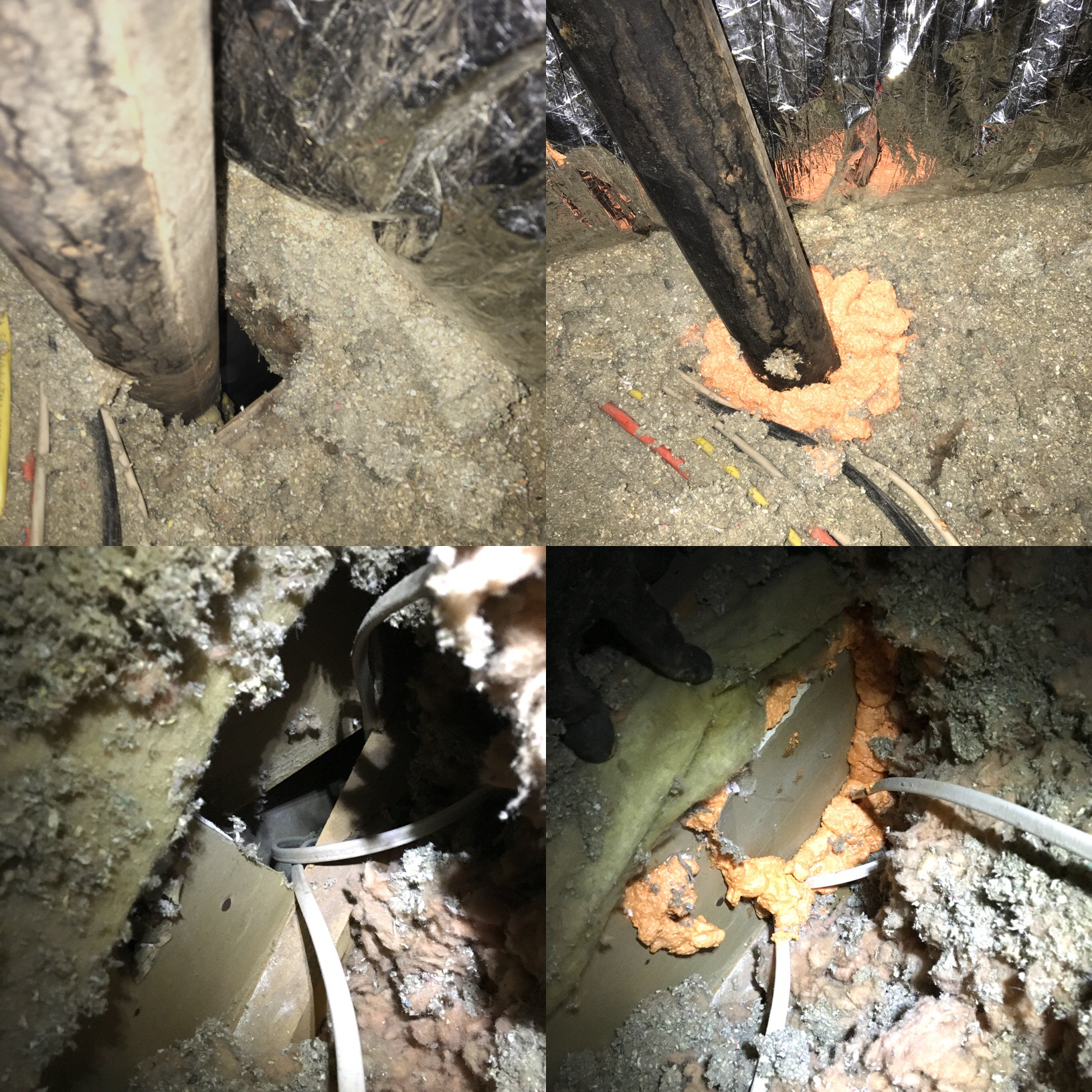 Attic Air Seal Before and After