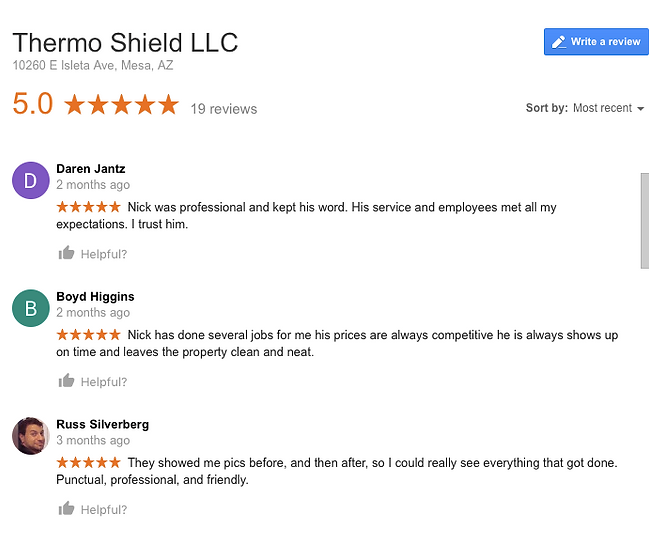 Thermo Shield LLC Insulation reviews