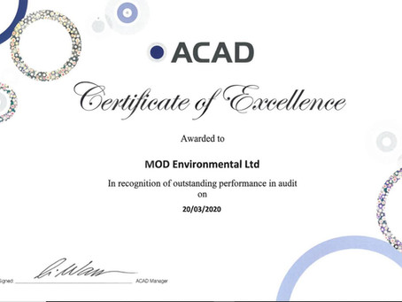 ACAD Certificate of Excellence!