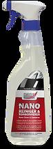 Nano plastik temizleme ve koruma spreyi Uzun süreli koruma için; uygulama yapılmış yüzeylerde, temizlik bakım ve tazeleme için uygundur. Bu ÜrünPlastik malzemeleriagresif dış etkenlerden korur. Yüzeyde uzun süre kir ve suyun tutunmasını engeller ve kolay temizlenir. Kimyasal kullanmadan etkili bir temizlik sağlanır. Ürün UV – dayanıklıdır. Uygulama, mekanik veya kimyasal etkilere karşı yüzeyi korur. Uygulama: Kullanmadan önce İyice çalkalayın. Kullanılacak yüzeye püskürtün. Sünger veya yıkama eldiveni ile temizleyin ve temiz su ile durulayın. Durulama esnasında yüzeyde pürüzsüzlük ve yüksek parlaklık Nano-Efekti olarak görülecektir. Yüzey üzerinde kalan damlacıklar yumuşak bir bez veya cam bezi ile kolayca giderilir.
