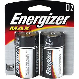 Pilha alcalina Energizer- D (Max)