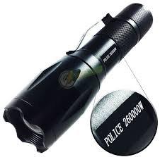Lanterna Tatica 710.000 Lumens Police Compacta e Potente LED T6 Bateria Gold Rec