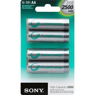 Pilha recarregável Sony-AA (com quatro) 2500 mAh