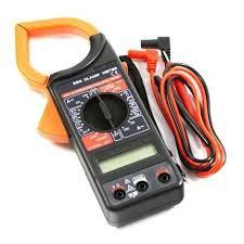 Multimetro Alicate Amperimetro Digital Cabo Teste E Bateria