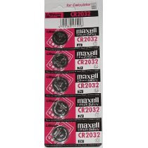 Cartela C/ 5 Baterias Maxell Original Cr2032