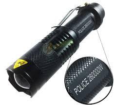 Lanterna Police Tática 710.000 Lumens LED Cree XML T6 Bateria 18650 Recarregável