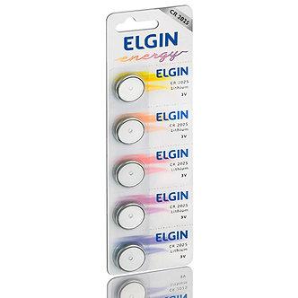 Bateria Botão De Litio Elgin Cr2032 Cartela C/5