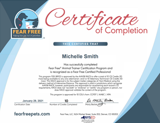 Clicks Dog Training_Fear Free Certificate