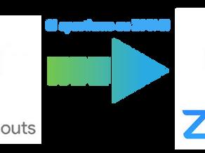 Cambio di Piattaforma eventi ONLINE