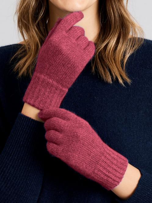MERINO SNUG - Merino Wool & Possum Gloves - Red Violet