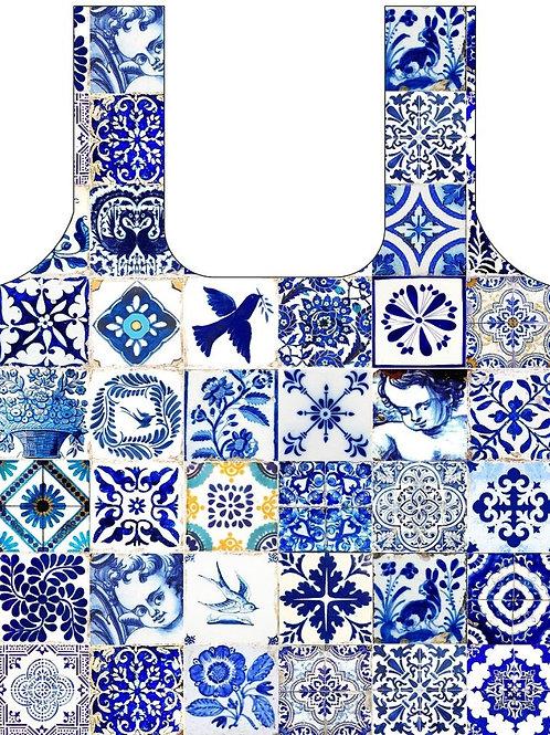 Anna Chandler Folding Shopping Bag - Spanish Tile