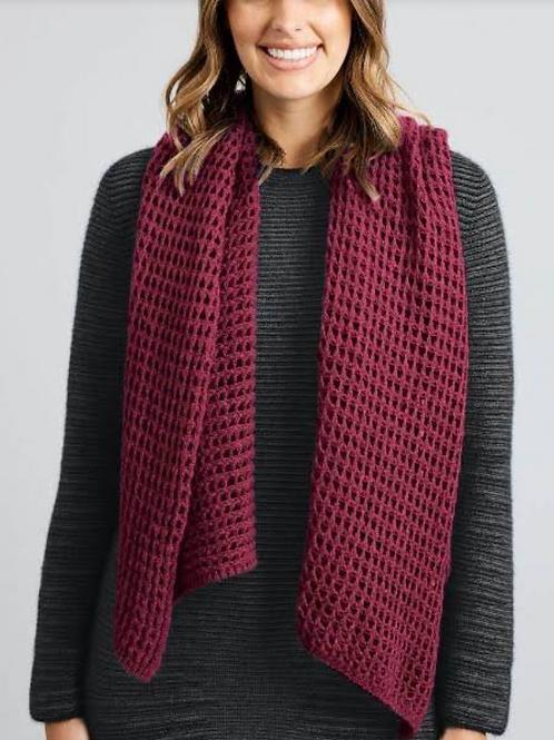 MERINO SNUG - Merino Wool & Possum Scarf - Red Violet