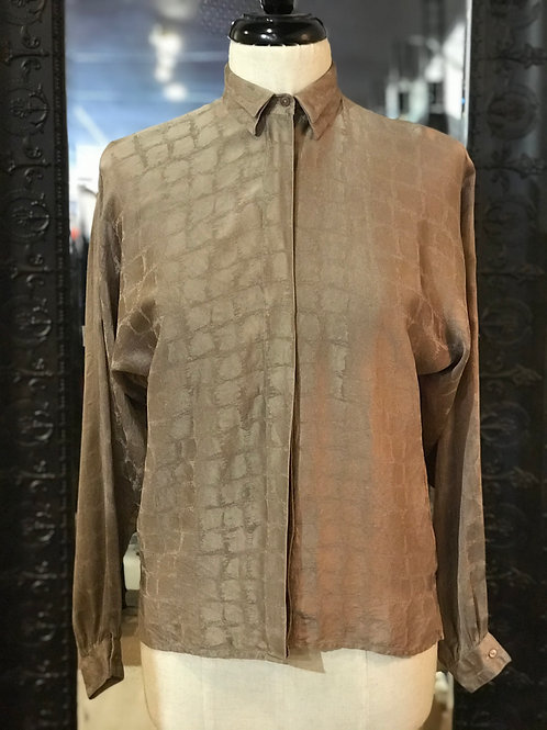 Vintage GUCCI - Silk Blouse - Small