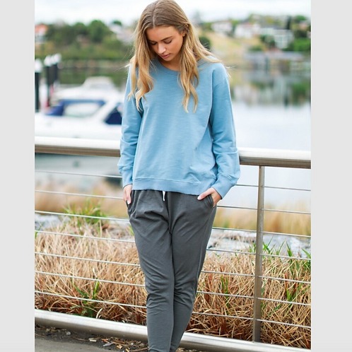 3RD STORY - Newhaven Sweater - Duck Egg Blue