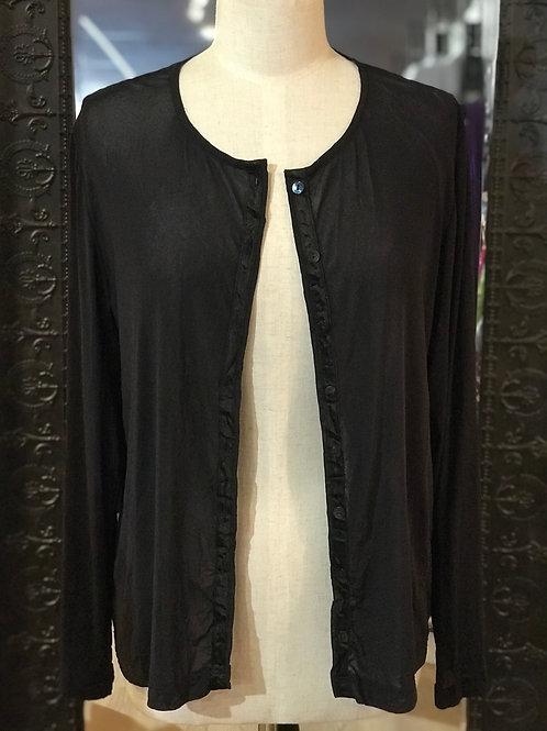 NICOLA WAITE - Black Sheer Cardigan - Size 2