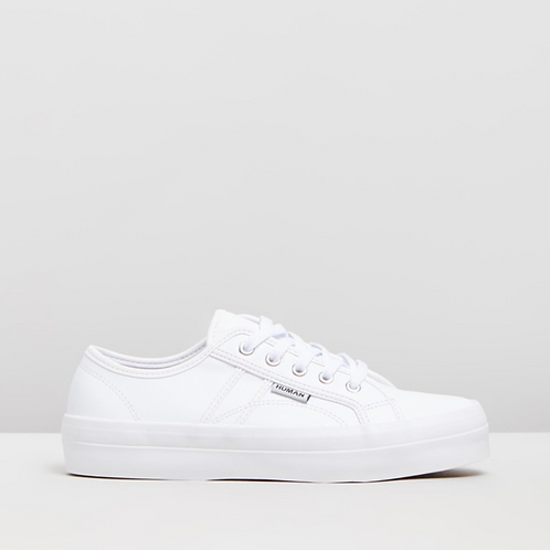 HUMAN  - CASS - Leather Sneaker - White