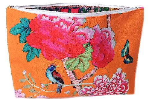 Anna Chandler - Cosmetic Bag - Orange Bird