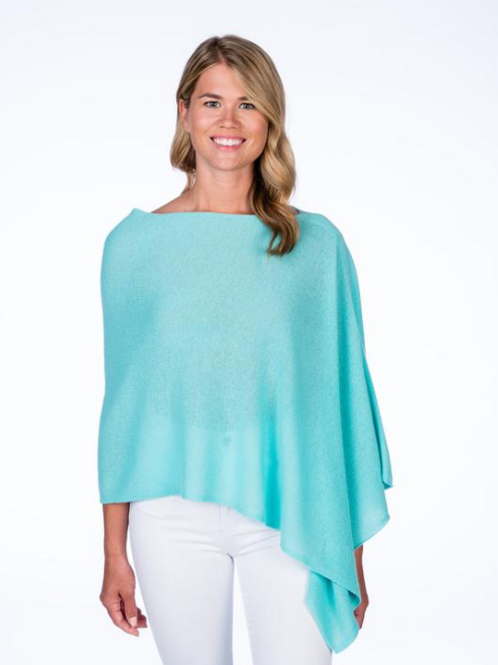Cashmere Topper - Turquoise