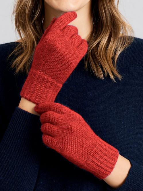 MERINO SNUG - Merino Wool & Possum Gloves - Tango Red