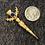 Thumbnail: Vintage - Scottish Thistle - Blue Crystal Brooch