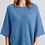 Thumbnail: MERINO SNUG - Cressy Poncho - Provence Blue
