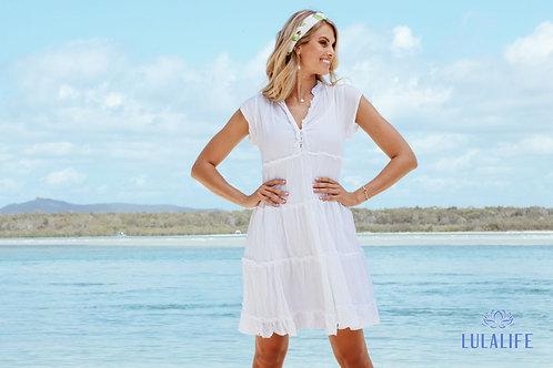 LULA LIFE - Gwen Tiered Dress - White