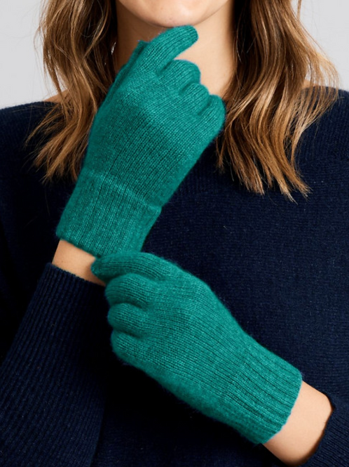 MERINO SNUG - Merino Wool Possum Gloves - Lapis
