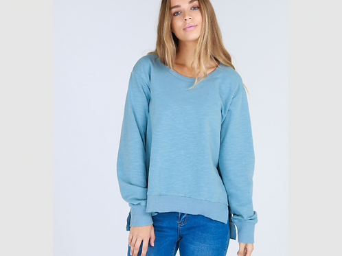 3RD STORY - Ulverstone Sweater - Duck Egg Blue